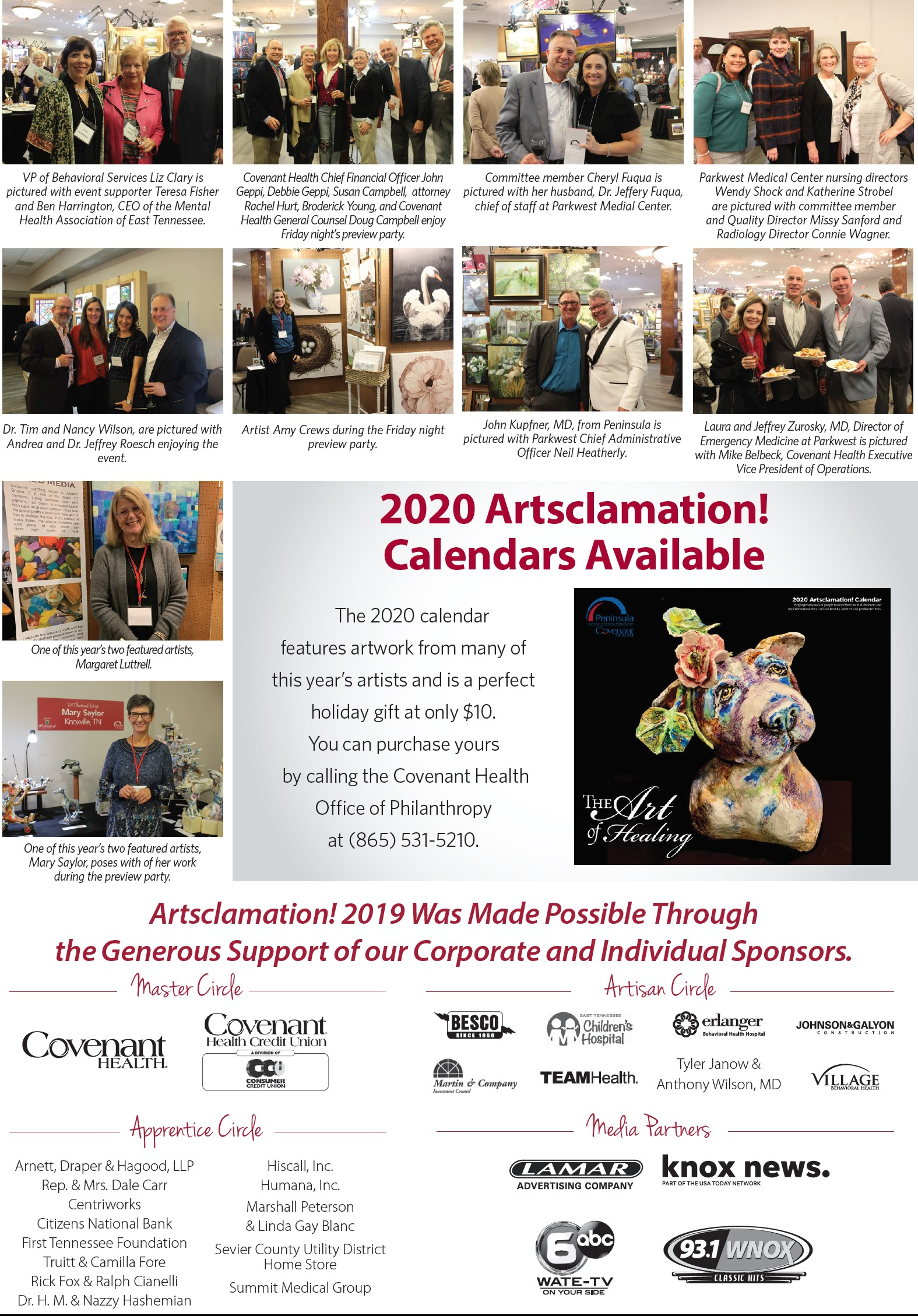 Photo collage of Arts event